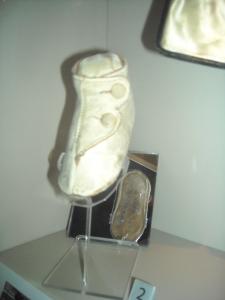 Chaussure de bébé, objets témoin du naufrage du Lusitania.